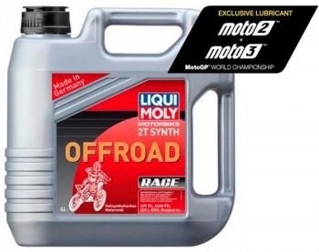 ACEITE LIQUI-MOLY GARRAFA 4L 100% SINTÉTICO 2T OFF-ROAD