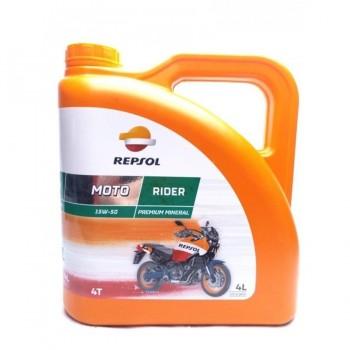 ACEITE REPSOL MOTO RIDER 4T 15W50 4L.