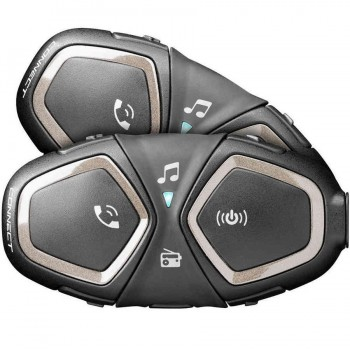 INTERCOMUNICADOR BLUETOOTH INTERPHONE CELLULARLINE CONNECT PACK 2