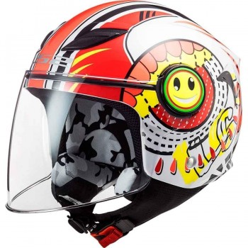 CASCO LS2 OF602 FUNNY GLOSS RED