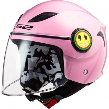 CASCO LS2 OF602 FUNNY GLOSS PINK