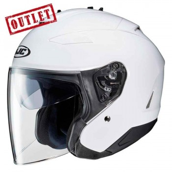 CASCO HJC CONVERTIBLE IS33 II SOLID WHITE (BLANCO)