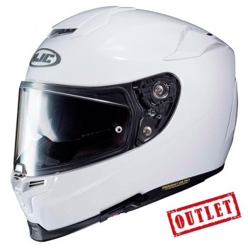 CASCO HJC INTEGRAL RPHA 70 METAL SEMI FLAT WHITE (BLANCO BRILLO)