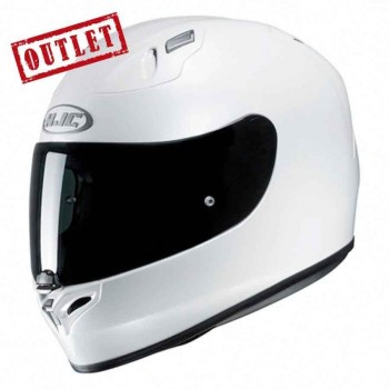 CASCO HJC INTEGRAL FG17 METAL PEARL WHITE RYAN (BLANCO)