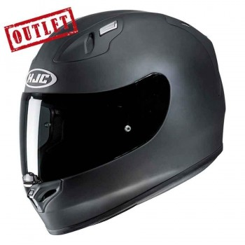 CASCO HJC INTEGRAL FG17 RUBBERTONE FLAT BLACK (NEGRO MATE)