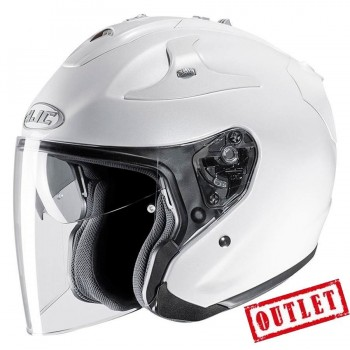 CASCO HJC CONVERTIBLE FG JET METAL PEARL WHITE RYAN (BLANCA)