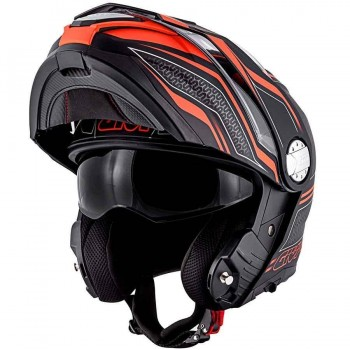 CASCO GIVI CONVERTIBLE X.33 CANYON LAYERS COL. NEGRO MATE-NARANJA