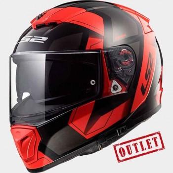 CASCO LS2 INTEGRAL FF390 BREAKER PHYSICS BLACK RED (ROJO)