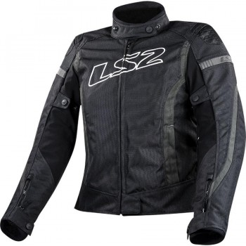 CHAQUETA LS2 SPORT TOURING GATE LADY BLACK DARK GREY (GRIS)