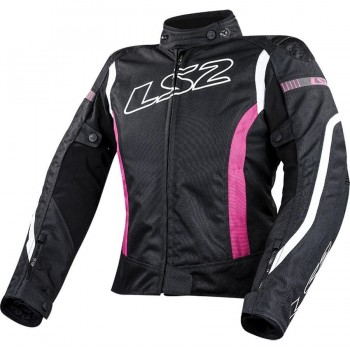 CHAQUETA LS2 SPORT TOURING GATE LADY BLACK PINK (ROSA)