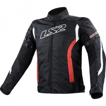 CHAQUETA LS2 SPORT TOURING GATE MAN BLACK RED (NEGRA)