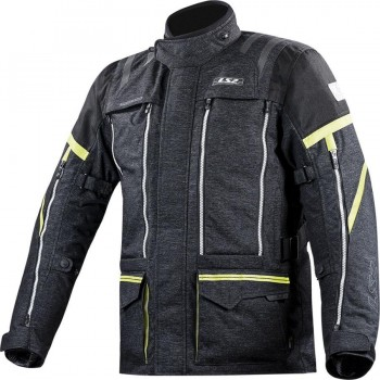 CHAQUETA LS2 SPORT TOURING NEVADA MAN BLACK HI-VIS YELLOW