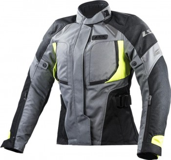 CHAQUETA LS2 SPORT TOURING PHASE LADY BLAK DARK FLUO YELLOW