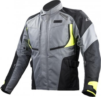 CHAQUETA LS2 SPORT TOURING PHASE MAN BLAK DARK FLUO YELLOW