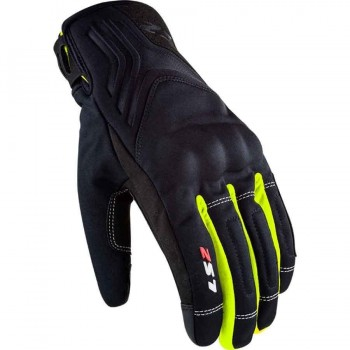 GUANTE INVIERNO LS2 JET 2 MAN BLACK H-V YELLOW