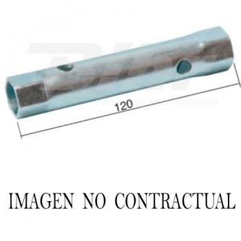 LLAVE DE BUJÍA CON EXTRACTOR DE PIPA DE SILICONA Y MANGO HEXAGONAL L:120 HEX.16X18   4854    19348