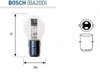 BOMBILLA LAMPARA AMOLUX 12V 25 / 25 W BOSCH (335)