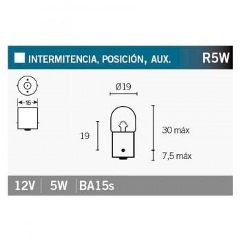 BOMBILLA LAMPARA V-PARTS BILUX 12V5W T16