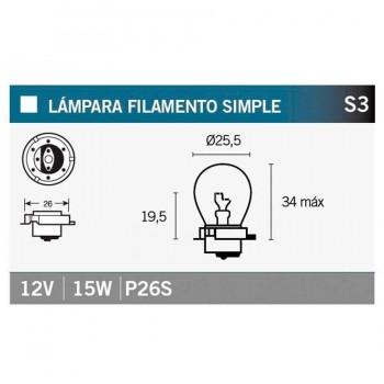 BOMBILLA LAMPARA V-PARTS (CAJA 10 UNIDADES)  12V15W P26S    14674
