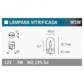 BOMBILLA LAMPARA V-PARTS (CAJA 10 UNIDADES) 12V5W W5W  T10-12VX5W   14676