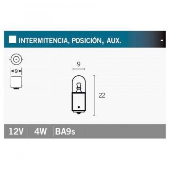 BOMBILLA LAMPARA V-PARTS (CAJA 10 UNIDADES)  POSICIÓN 12V4W    14683