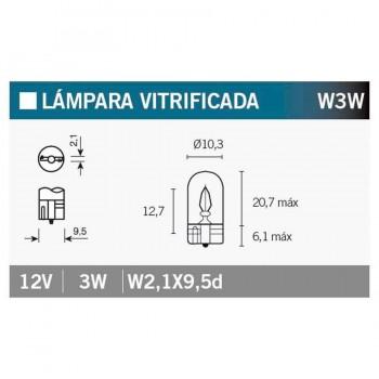 BOMBILLA LAMPARA V-PARTS (CAJA 10 UNIDADES) 12V3W    14687