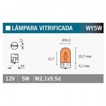 BOMBILLA LAMPARA V-PARTS (CAJA 10 UNIDADES) 12V5W  W5W   14688