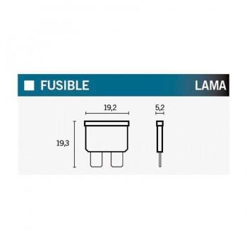 FUSIBLES (CAJA DE 50) A LAMA 25A TRANSPARENTE  25A   14707