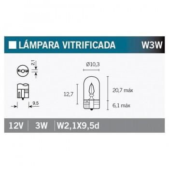 BOMBILLA LAMPARA OSRAM (CAJA 10 UNIDADES) 2821   15066
