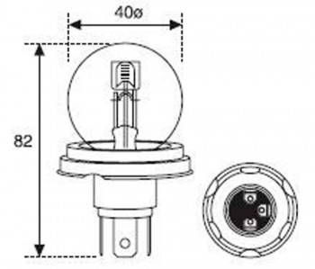 BOMBILLA LAMPARA AMOLUX 12V 45 / 40W FOCO EUROPEO 721TOP