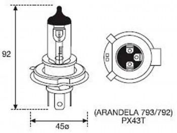 BOMBILLA LAMPARA AMOLUX 12V 35 / 35W HALOGENA HS1 793ES