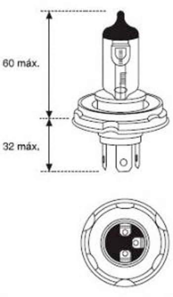 BOMBILLA LAMPARA AMOLUX 12V 60 / 55W HALOGENA H5 780