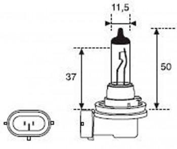 BOMBILLA LAMPARA AMOLUX 12V 35W HALOGENA H8 50
