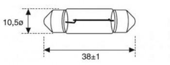 BOMBILLA LAMPARA AMOLUX 12V / 10W PLAFONIER 158A