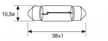 BOMBILLA LAMPARA AMOLUX 12V / 5W 158 PLAFONIER