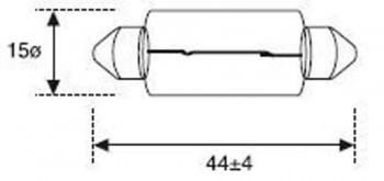 BOMBILLA LAMPARA AMOLUX 12V / 15W PLAFONIER 515
