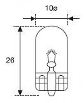 BOMBILLA LAMPARA AMOLUX 12 V / 3W T10 CU A GRANDE 521