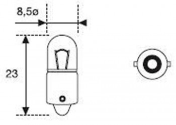BOMBILLA LAMPARA AMOLUX 12V / 4W BAYONETITA 518