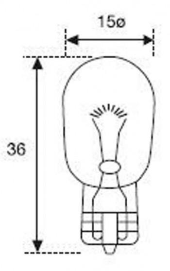 BOMBILLA LAMPARA AMOLUX 12 V / 21W CUÑA GRANDE 640