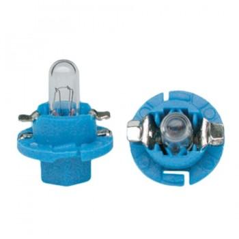 BOMBILLA LAMPARA AMOLUX 12 V / 2W CU A CON SOPORTE WEDGE 122L B8.4D