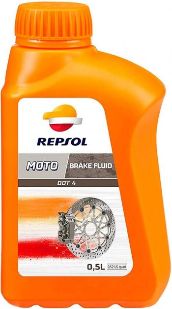 LIQUIDO FRENOS REPSOL DOT-4 500 ML.