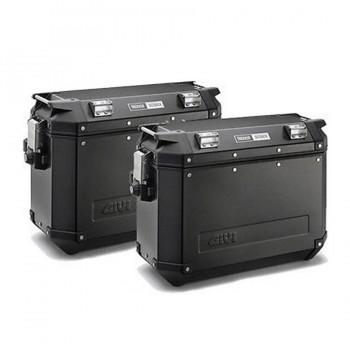 JUEGO MALETAS LATERALES GIVI  MKCAM-SID37LTS OBK37/T OUTBACK BLACK L  OBK37BPACK2