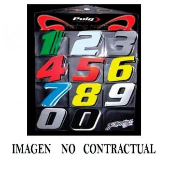 ADHESIVO PUIG RACING (10 UNIDADES) C/BLANCO 4040B