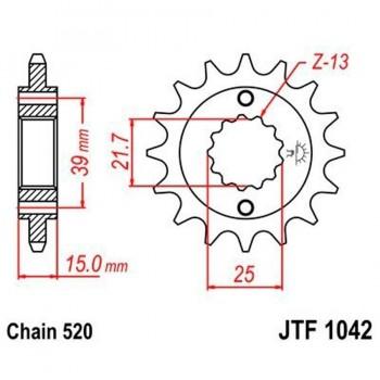 PIÑON JT 1042K 14T 520