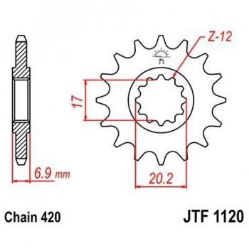 PIÑON JT 1120 14T 420