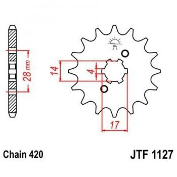 PIÑON JT 1127K 12T  420