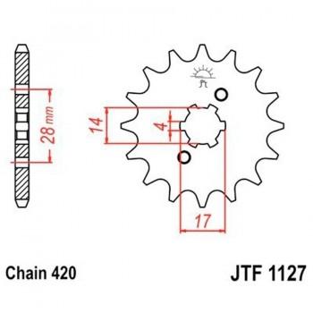 PIÑON JT 1127K 15T  420