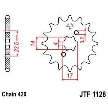 PIÑON JT 1128K 12T  420