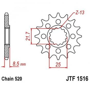 PIÑON JT 1516 15T 520