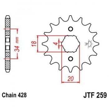 PIÑON JT 259K 13T 428